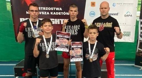 Złoto, srebro i dwa brązowe medale kickbokserów ŁKS Łódź Boks. Zdjęcia