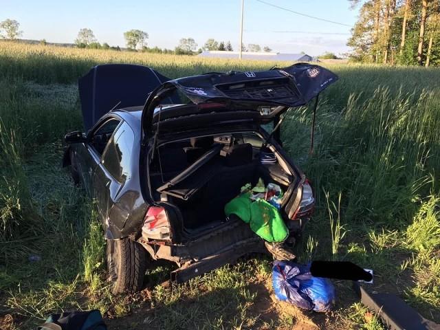 Wypadek na trasie Czechowizna - Dziękonie