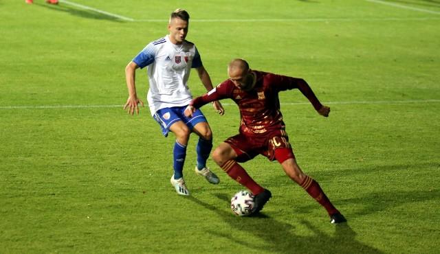 Chojniczanka Chojnice zagrała dobre spotkanie na boisku lidera 2 Ligi - Górnika Polkowice