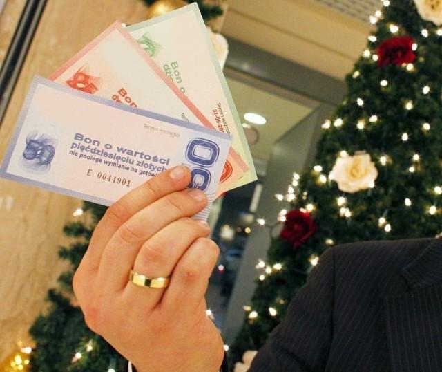 Tylko MPO i Tesco dają talony świąteczne swoim pracownikom.