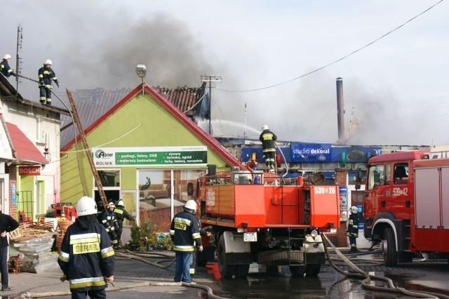 Nowe. Pożar sklepu z farbami