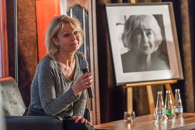 Magdalena Wołłejko podczas wystawy wspominała aktorkę.