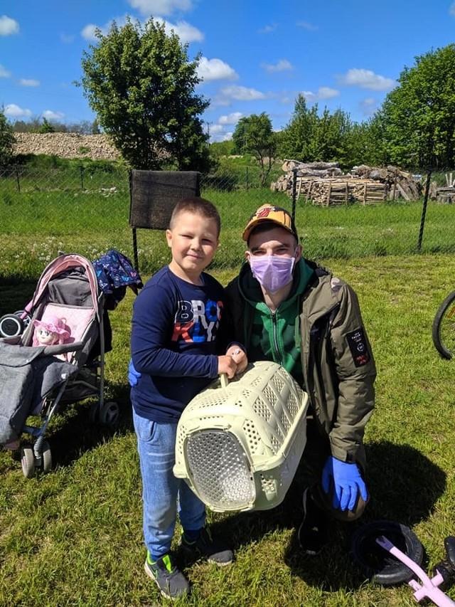 8-letni Igor Foszmanczyk ratował rannego ptaka