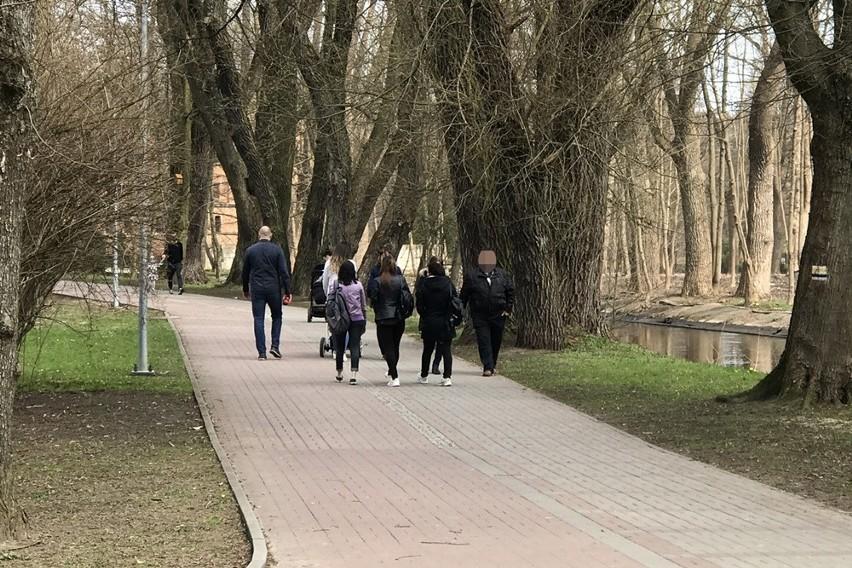 Słupski Park Kultury i Wypoczynku, 18 kwietnia 2021.