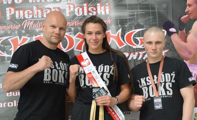Julia Radys, Damian Tajbert i trener Grzegorz Goliński