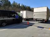 Inspektorzy Transportu Drogowego ważyli ciężarówki. Wszystkie były przeciążone
