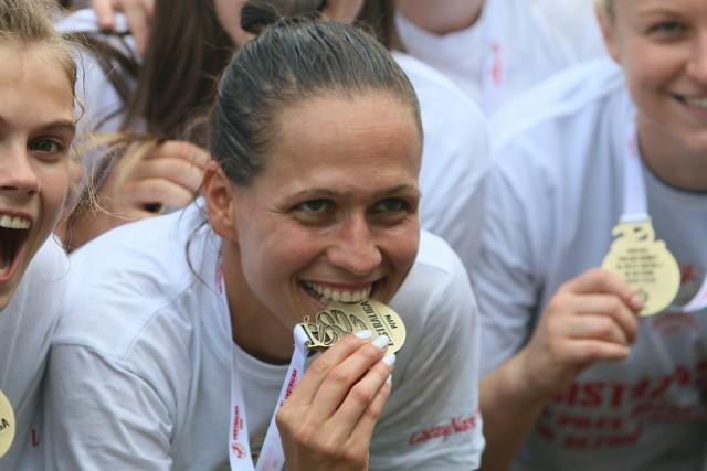 Natasza Górnicka ze złotym medalem po zakończeniu sezonu 2018/2019