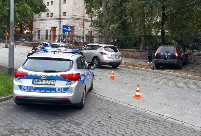 Wypadek na ul. Ks. Witolda we Wrocławiu 13.10.2021
