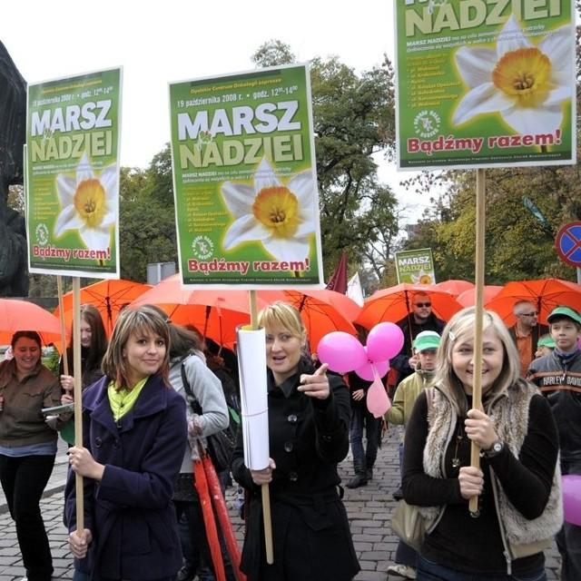 Marsz nadziei na ulicach Opola - akcja naglaśniająca problem walki z rakiem piersi