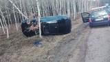 Bmw wypadło z drogi między Zielona Góra a Nowogrodem Bobrzańskim