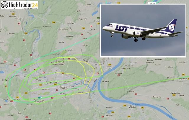 Samolot, który lata nad miastem to Embraer ERJ-175LR