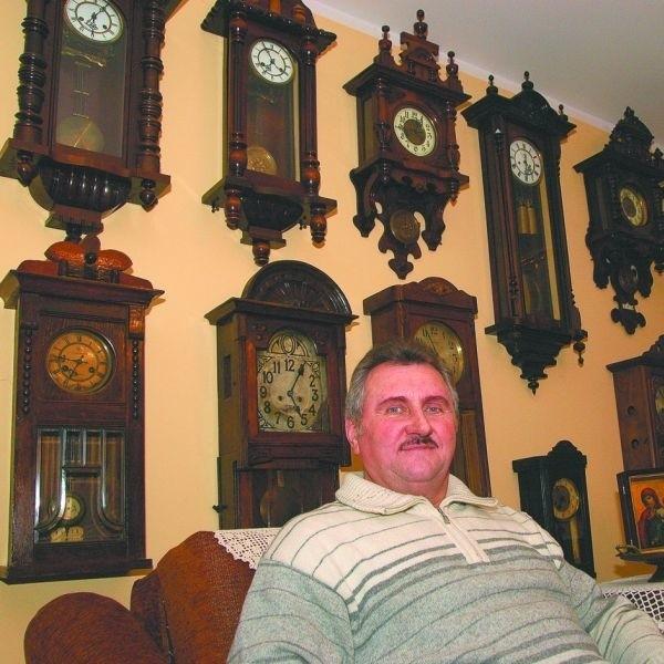 Każdy zegar jest owiany nutką tajemnicy, ma swoją historię – podkreśla Andrzej Grygoruk.