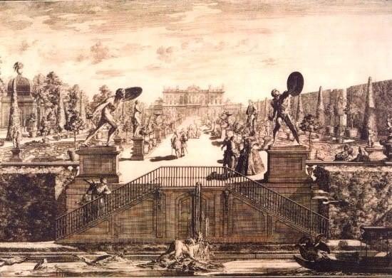 Donice są widoczne na XVIII-wiecznej rycinie J.H. Klemma i...