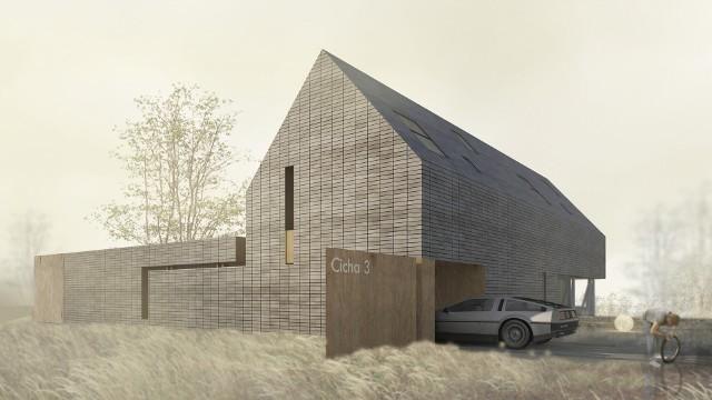 Jak zaprojektować klasyczny dom w hałaśliwej okolicy (WIZUALIZACJE)Dom bez płotu. Klasyczny projekt w hałaśliwej okolicy (WIZUALIZACJE)