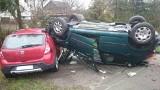 Wypadek w Gorzycach. Kobieta cudem przeżyła wypadek [ZDJĘCIA]