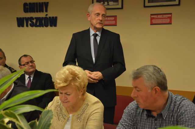 Zbigniew Giełda na sesji Rady Miejskiej w Wyszkowie