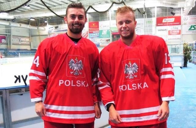 Marcel Hatłas (z lewej) i Jakub Krzak w kadrze Polski U-20