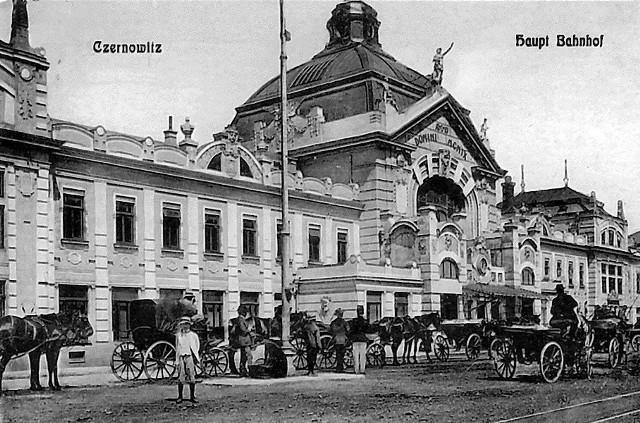 Dworzec w Czerniowcach był jedną z wizytówek miasta.