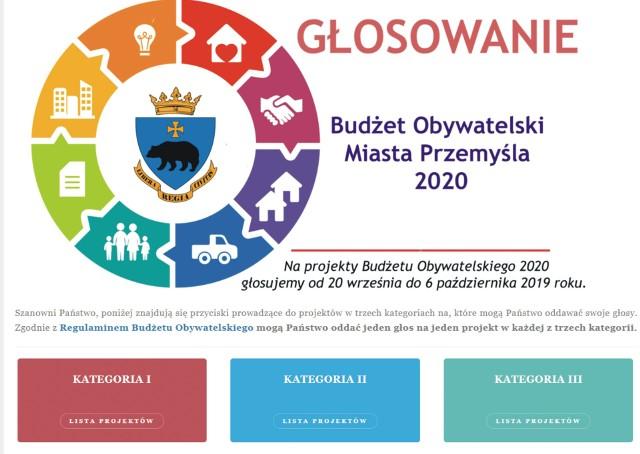 Głosowanie nad budżetem obywatelskim na 2020 rok w Przemyślu.