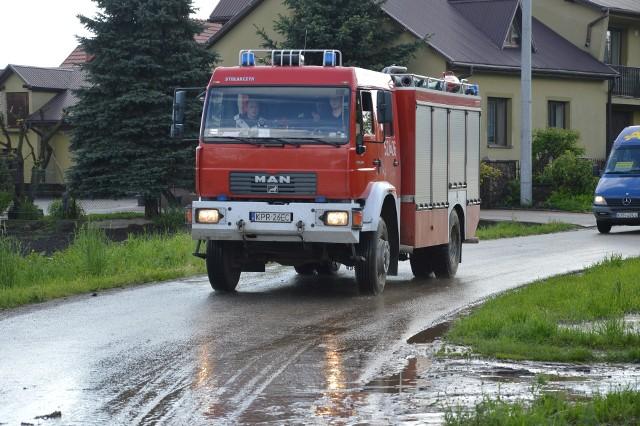 Strażacy w Łaganowie