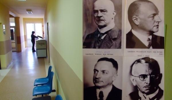 Tak wyglądały portrety starostów, które wisiały na korytarzu.