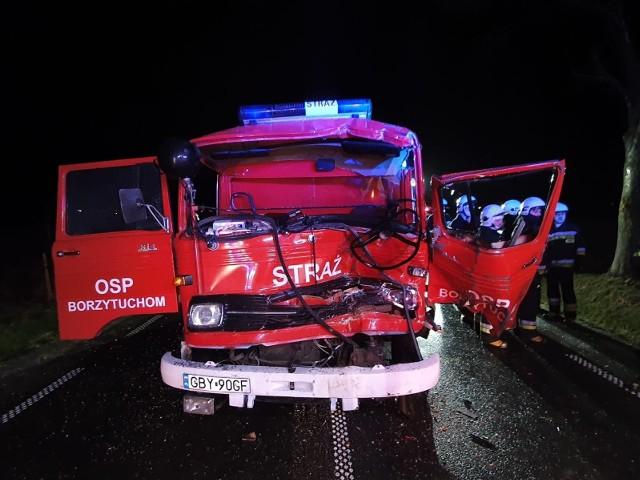 Wypadek śmiertelny na 209 do Borzytuchomia. Nie żyją dwie osoby.
