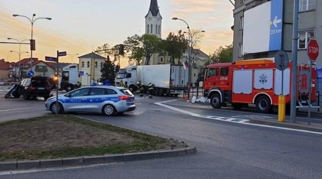 Wypadek na skrzyżowaniu ul. Wojska Polskiego i ul. Piłsudskiego w Grajewie