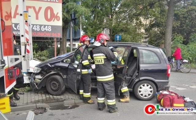 Wypadek koło Kauflandu w Kluczborku.