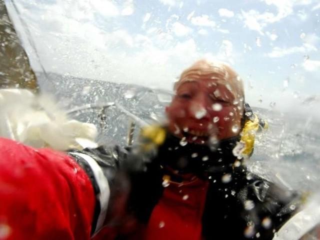 """Rejs na pokladzie jachtu """"Zbigniew Bolinski"""" po Morzu Pólnocnym z Danii do Norwegii w czerwcu 2008. Zdjecia Witolda Chojnackiego."""