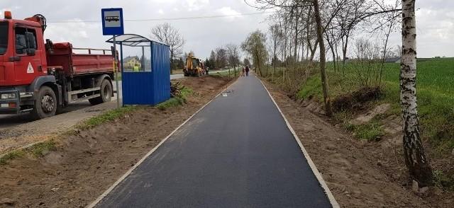 Nowa ścieżka rowerowa w Ostrowitem ma długość 600 m