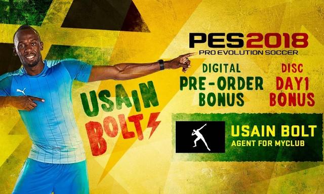 PES 2018Usain Bolt w grze PES 2018