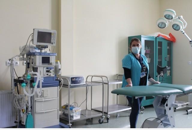 Sala w oddziale ginekologiczno-położniczym w Zakładzie Karnym nr 1 w Grudziądzu