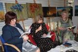 Byliśmy w radziejowskiej bibliotece na spotkaniu z poezją i malarstwem Aleksandry Sas Wisłockiej