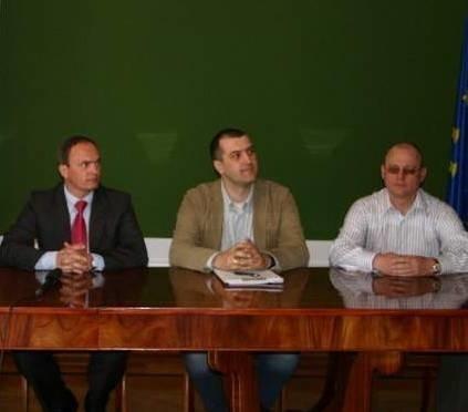 """O nowym projekcie """"Pomysł na biznes = własna firma"""" poinformowali przedtsawicele władz Polkowice i Agencji Rozwoju """"Arleg""""."""