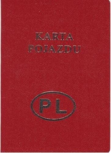 Karta pojazdu to dokument tożsamości samochodu.