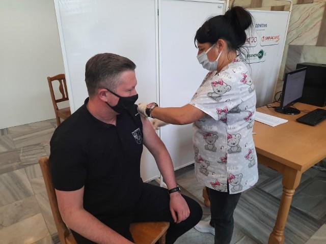 Pierwsze szczepienia w DPS-ie w Choroszczy.