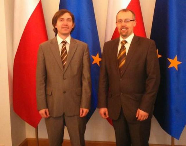 Od lewej: Grzegorz Pawlikowski (Tczewska Inicjatywa Rowerowa) i Łukasz Brządkowski (Ruch Inicjatyw Obywatelskich Tczewa)