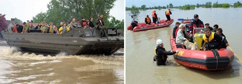 Powódź na Podkarpaciu.