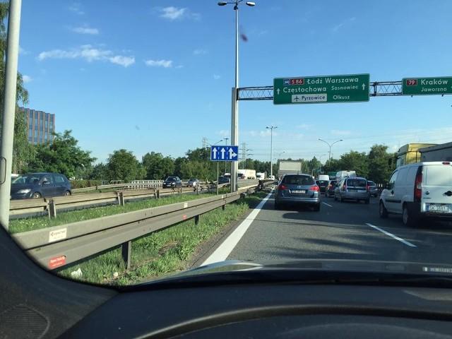 Wypadek na DK 86 w Katowicach
