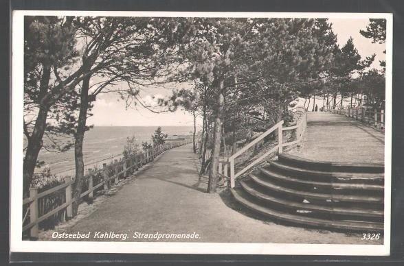 Nadmorska promenada w dawnym Kahlbergu (dziś Krynica Morska)