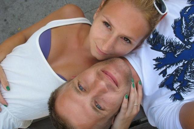 Krystian Herba wraz ze swoją żoną Natalią.