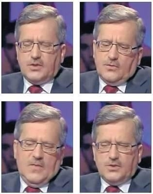 Bronisław Komorowski mrugnął w telewizji 7 razy w 2,5 sekundy