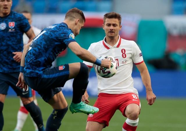 Karol Linetty zdobył gola w meczu Polska - Słowacja w Sankt Petersburgu podczas Euro 2020