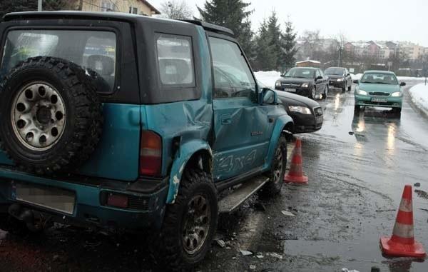 Wypadek w RzeszowieWypadek na skrzyzowaniu Mieszka I i Niepodleglości.