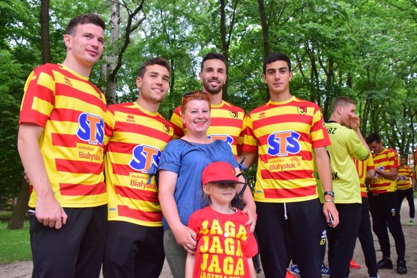 Piłkarze Jagiellonii pojawili się na uroczystościach...