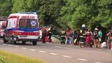 Wypadek autobusu pod Garwolinem w m. Górzno-Kolonia. Pięć osób nie żyje (wideo)