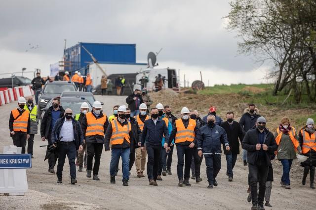 Na budowę północnej obwodnicy Krakowa przyjechał prezydent Andrzej Duda