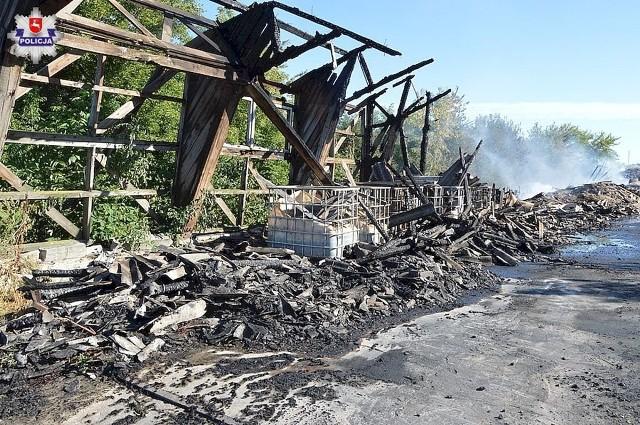 Policjanci ustalają okoliczności pożaru, do którego doszło w sobotę w gminie Dorohusk
