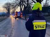 Wypadek w Więcborku. Pijany kierowca uderzył w drzewo [zdjęcia]