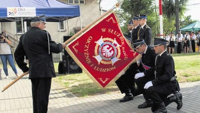 OSP Chorągwica może szczycić się nowym symbolem jednostki.